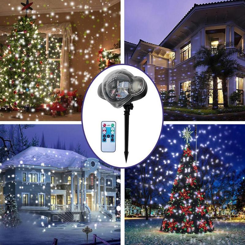 Snowfall Outdoor LED Christmas Lights Displays Projector Show ...