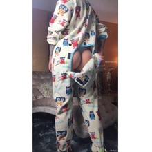 liva girl Women Pajama Sets 2019 Autumn winter Flannel sexy Warm Pyjamas Homewear Animal Sleepwear Cat female pajama