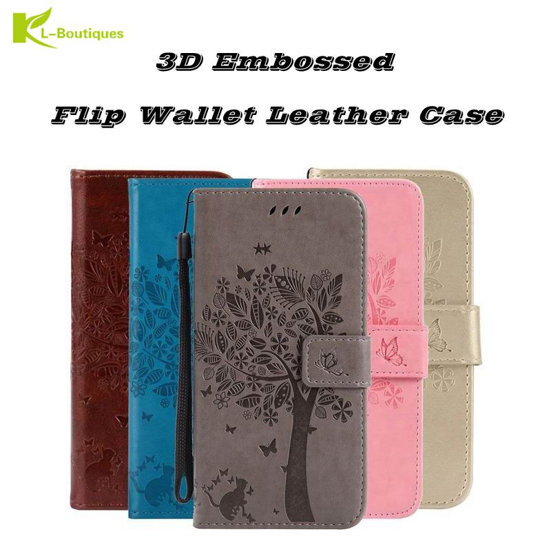 Honor 10 lite Flip Case on For Huawei Honor V10 Coque Cartoon 3D Cat Tree Wallet Leather Cover For Huawei Honor 10 lite Case image