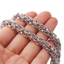 6mm Wide Fashion 316L Stainless Steel Silver Round Circle Byzantine Link Chain Men/Women Necklace Or Bracelet 1PCS New