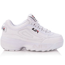 ФОТО 2018 women's running shoes lady sneakers white mesh breathable cushioning thick soled sport cross-tied lace up soft shoes