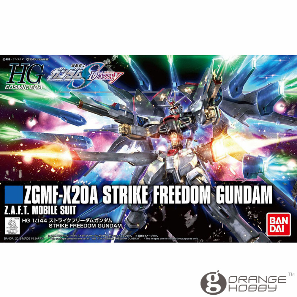 OHS Bandai HGUC 201 1 144 ZGMF X20A Strike Freedom Gundam Mobile Suit Assembly Model Kits
