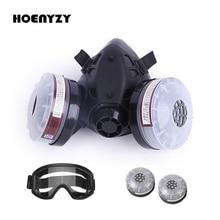 2 ב 1/3 ב 1 חצי פנים ציור ריסוס ריתוך Respirator גז מסכת בטיחות עבודה מסנן כימי מסכת אבק אנטי ערפל משקפיים
