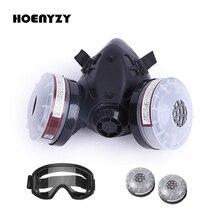 2 em 1/3 em 1 meia pintura facial de pulverização de soldagem respirador máscara de gás de trabalho de segurança filtro de poeira química máscara anti nevoeiro óculos