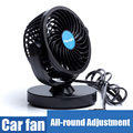 Portable Car Fan 12V Car Air Fans Automobile Cooling Fan