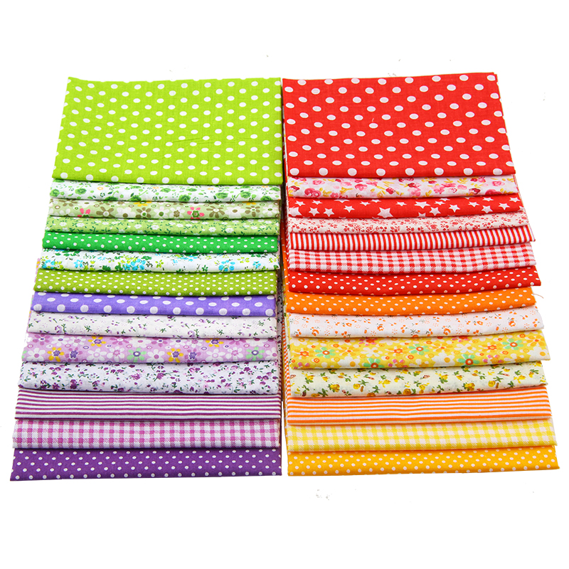 Floral Series Patchwork Cotton Fabric Quit Fabric Bundle Sewing Fabric For DIY Woman Bags Pillow 50
