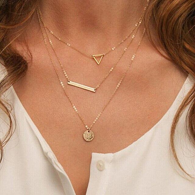 Высокое качество Bijoux ininfity Сердце Сова Кристалл крест лист минималистичные короткие Подвески до ключицы ожерелья для женщин ювелирные изделия цепи ожерелье - Окраска металла: N614