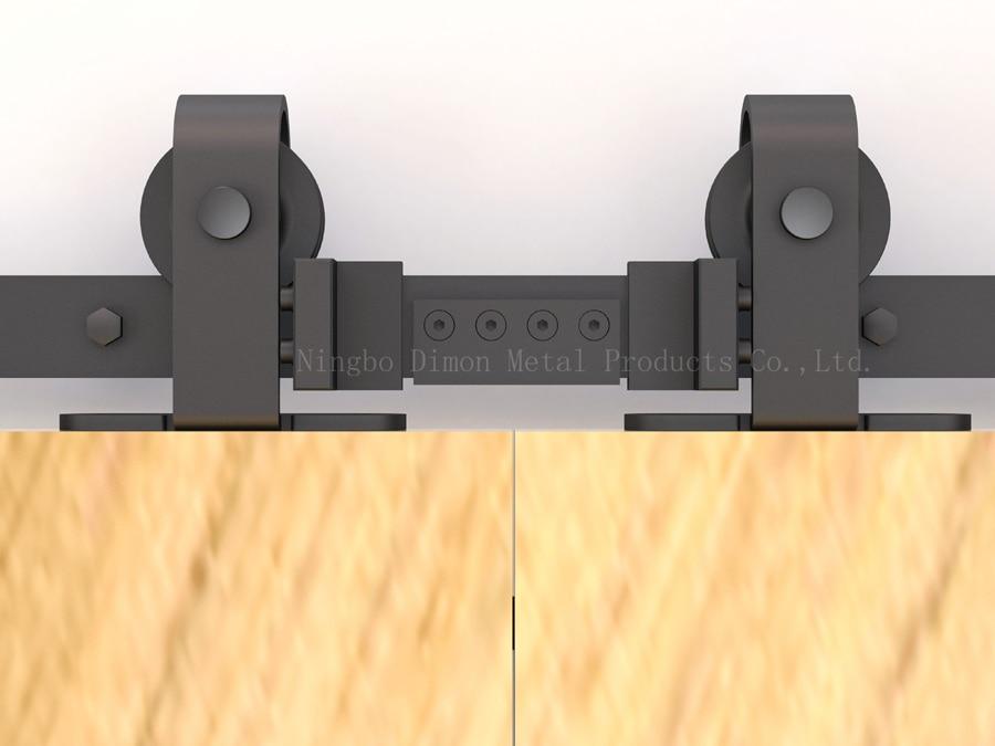 Dimon Customized Sliding Door Hardware Wood Barn Door Hardware Hanging Wheel America Style Sliding Door Hardware DM-SDU 7208