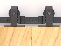 Dimon customized sliding door hardware wood barn door hardware hanging wheel America style sliding door hardware DM SDU 7208