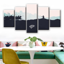Drop Shipping 5Piece Quadros Wall Prints Posters Poster Canvas Movie Paintings On Art For Living Room
