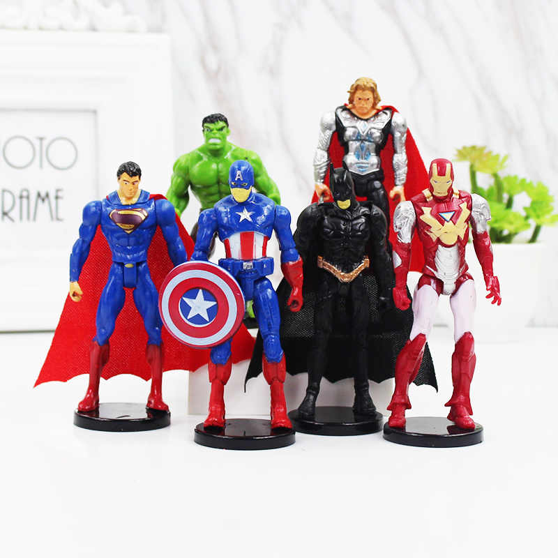 Marvel Avengers supereroe Infinity Guerra Iron Man Hulk Captain america Superman Batman Thor Super Heroes Action Figures Giocattoli
