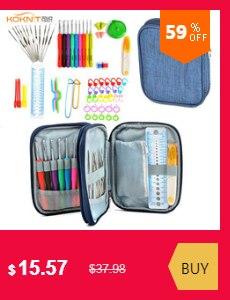 9 en 1 USB DEL Light Up Crochet Crochets Aiguilles à tricoter Set Pourpre Poignée outils