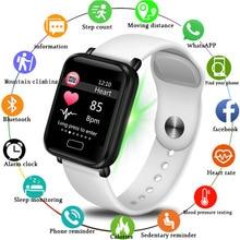 LIGE Women Watch Ladies Sport pedometer smart bracelet heart rate monitor Fitness Tracker LED screen color ladies Wrist Watches