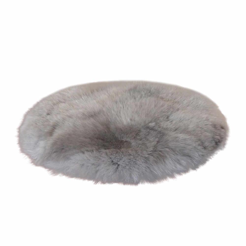 Роскошный Коврик, шерсть, теплые коврики, пушистое сиденье, Textil, меховая область, молитва, домашний декоративный круглый искусственный стул, для спальни, хит продаж