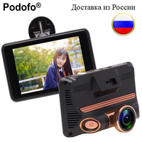 Podofo 4 0 Dash Cam Car DVR HD 1080P Auto Video Recorder Fisheye Lens Registrator Loop