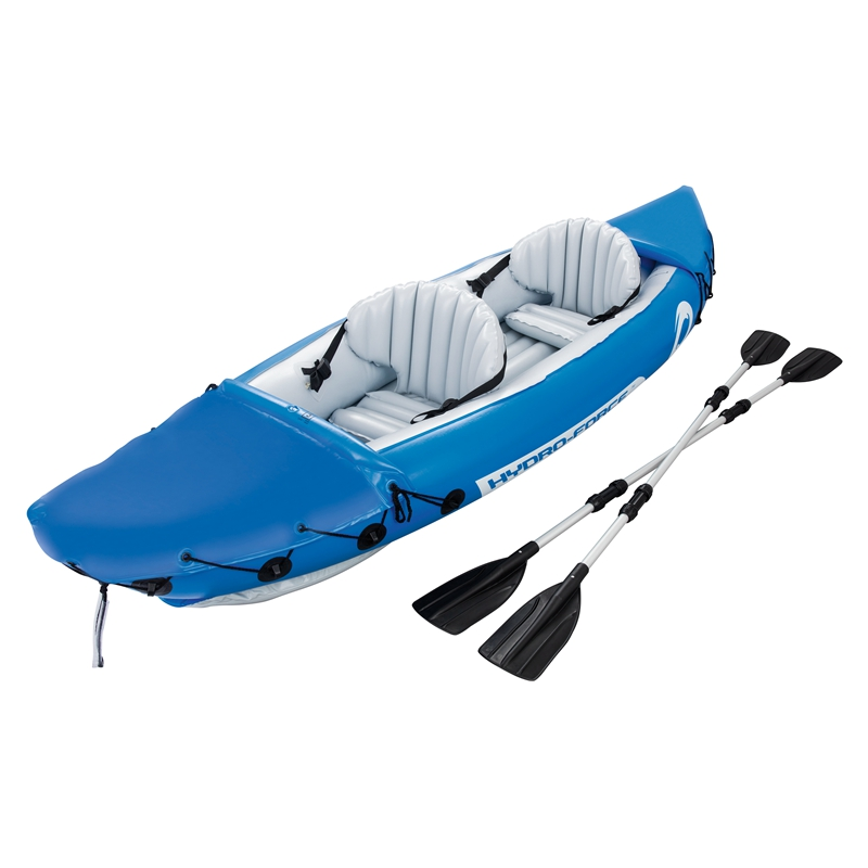10ft Inflatable 2-Person Lite-Rapid Kayak Float Fishing Boat Swimming Pool Floats Bed Water Toys Pool Fun Raft