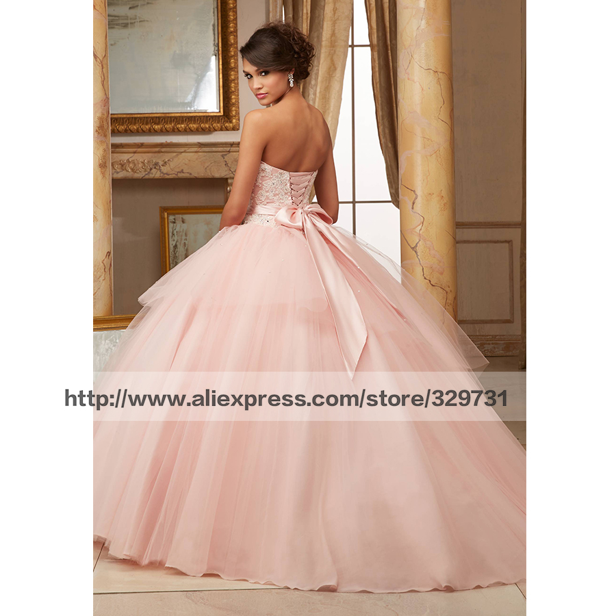 942d39cb25 Dress 15 Years Puffy 2016 Quinceanera Dresses Blush Pink Plus Size Pageant  Gowns Sweet 16 Dresses Lace Bowtie Prom Ball Gowns-in Quinceanera Dresses  from ...