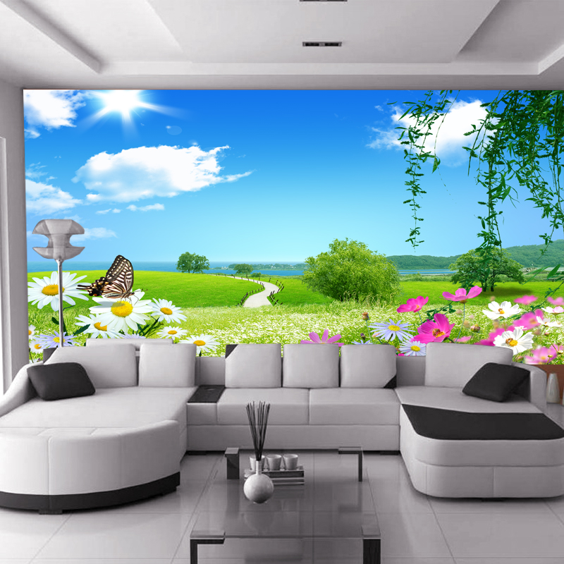 ᗐmurale Grand Rustique Murale Tv Fond De Mur Porte D Entree Version