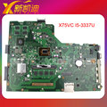 Para asus x75 x75vc laptop motherboard w/intel i5-3337u 4 gb ram 60-nb0240-mb8000