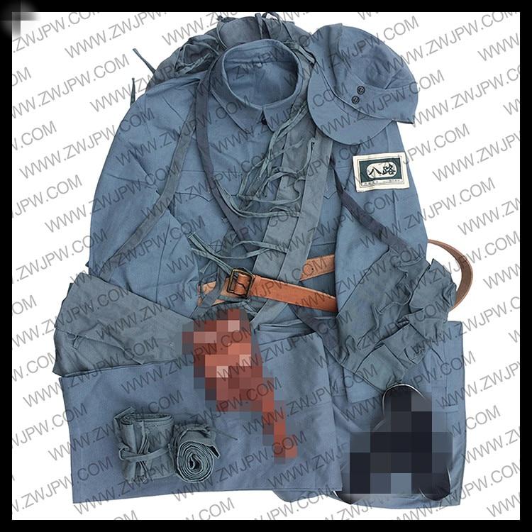 China Eight Route Army Uniform Full Equipment Kit Jacket Pants Leather Belt CN/50111