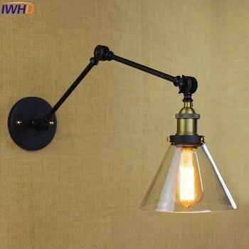 IWHD Industrial Loft Style Vintage Wall Lamp led Long Arm Wall Light Up Down Home Lighting Stairs Wandlamp Aplik Lamba sconce