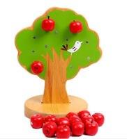 Candice guo đồ chơi bằng gỗ gỗ bé món quà sinh nhật woody puddy 3D từ red apple tree Tương Tác Chọn trái cây chơi trò chơi nhà b