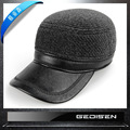 Men's Fashion Warm Hat Male Cotton Warm Baseball Cap Middle-aged Man Flat Hat Undertakes Eaves Stripe B-4552