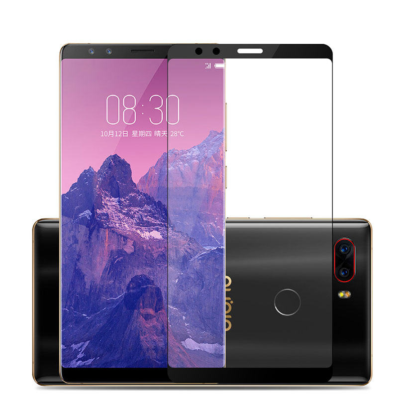 Image 2 - 3D Tempered Glass For ZTE Nubia Z17S Full Cover 9H Protective film Explosion proof Screen Protector For Nubia Z17S Nx595j-in Phone Screen Protectors from Cellphones & Telecommunications