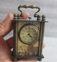 8.8 cm */Chinese ancient copper hand carved can use mechanical clock timer (Randomly Send)