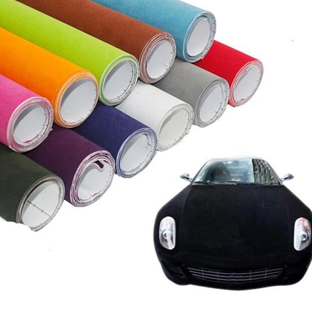 1.35x 15 м Suede бархатная ткань Ткань автомобиля Обёрточная бумага Ping велюр винил Обёрточная бумага Авто Плёнки Стикеры интерьера