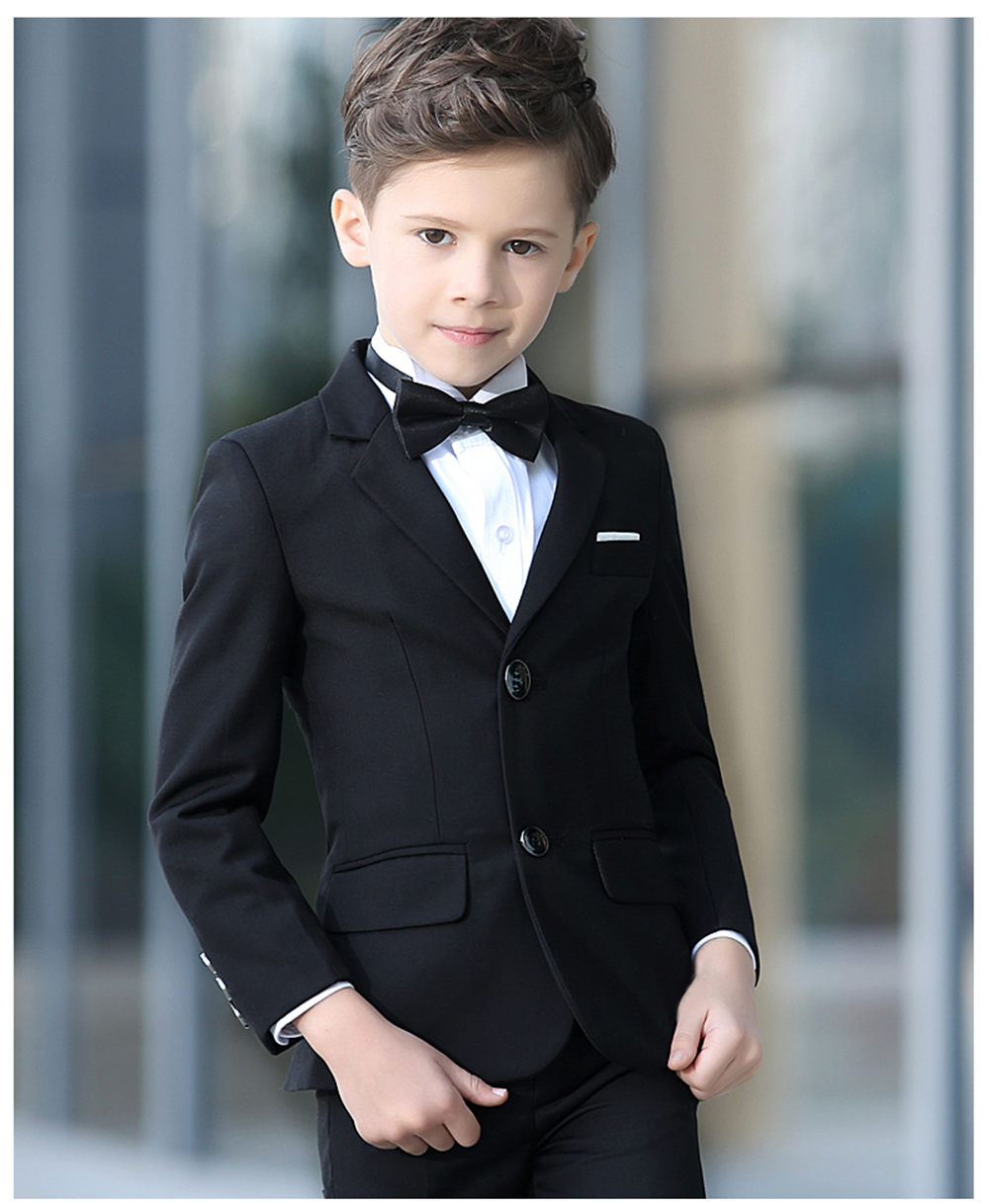 Boys Suits For Weddings Kids Prom Suits Black Wedding Suits Kids Blazers Boys Clothing Set Boy Formal Classic Custom Cute Suits