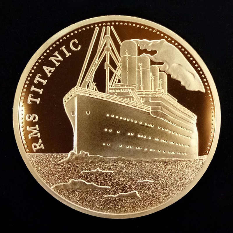Titanic Ship Incident Collection Commemorative Coin Souvenir Badge Coin Novelty Token With Plastic Case Included