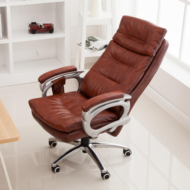 Reclining Office Chair Rocking Computer Chair Thickened Cushion 145Degree Lying Adjustable Bureaustoel Ergonomisch Sedie Ufficio