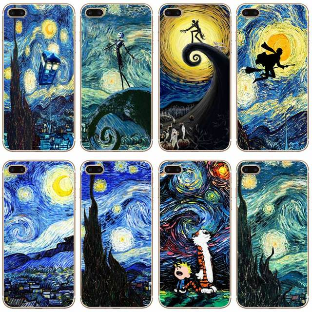 H259 Starry Night Harry Potter Transparent Hard Thin Case Cover For