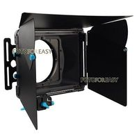 FOTGA DP3000 Pro Mat Kutusu Güneşlik w/Donuts 15mm Çubuk DSLR için Rig A7 A7S A7RIII A7SIII A6300 GH4 GH5 GH6S A6500 BMPCC KıRMıZı FS7
