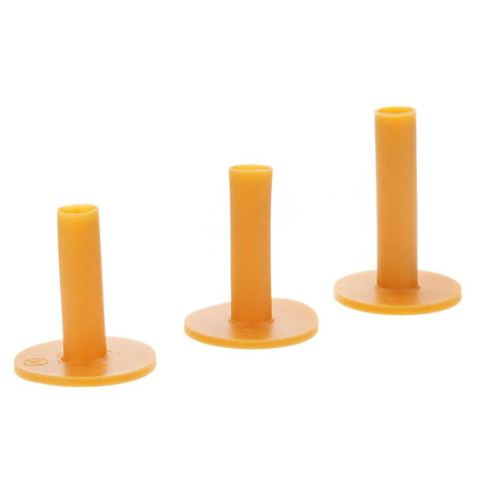 Durable Rubber Golf Tee Holder 60/70/80mm Training Practice Tee Mat Goft Ball Hole Holder Beginner Trainer Practice 3pcs Pack