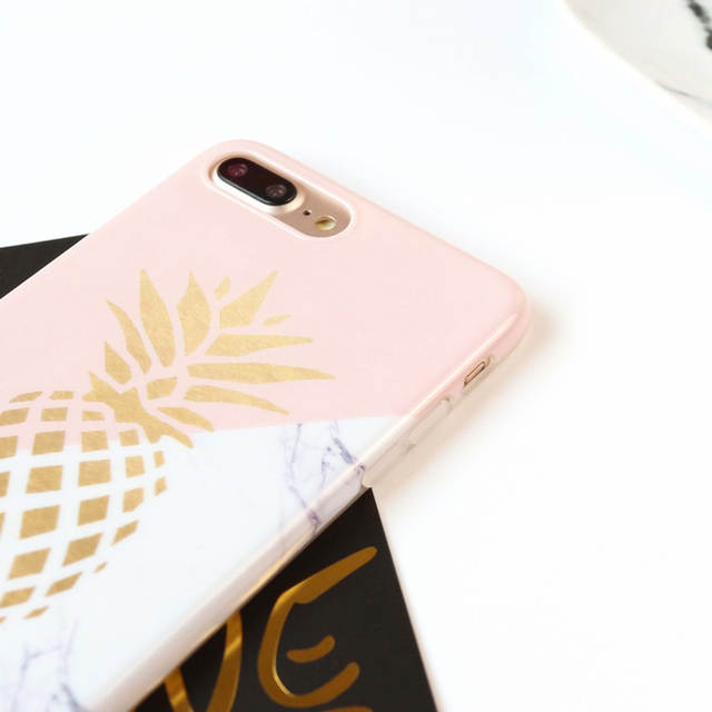 placeholder SUYACS Smooth Gold Pineapple Marble Phone Case Shell For iPhone  5 5S SE 6 6S 7 38cc8f5cb363