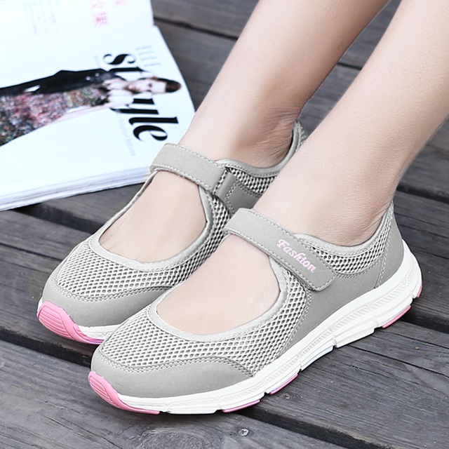 Fashion Women Sneakers Casual Shoes Female Mesh 2020 Summer Shoes Breathable Trainers Ladies Basket Femme Tenis Feminino 2