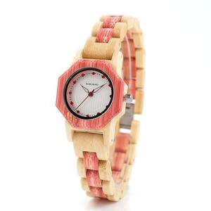 Image 2 - Bobo Vogel O10 Bamboe Vrouwen Horloges Crystal Dial Dames Quartz Jurk Horloge In Houten Doos