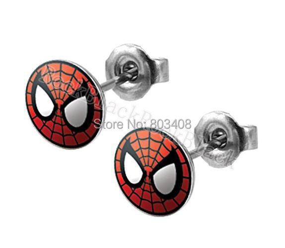 10mm Web Head Spider Ear Stud  Earrings Fake ear plug  body jewelry ERTCR028