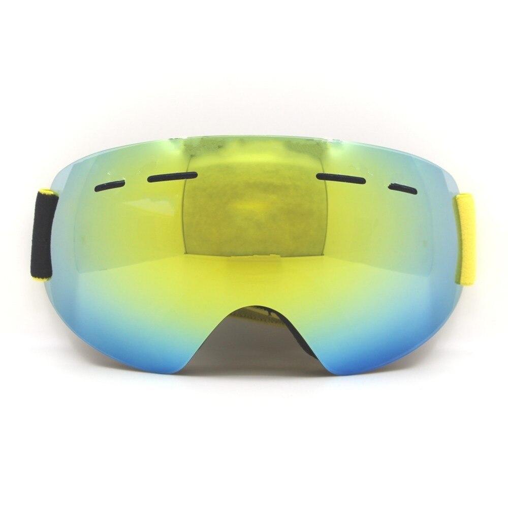Prix pour Adulte Sans Cadre Ski Lunettes UV400 Anti-brouillard Snowboard Snowboard Patinage Lunettes de Neige Ski Lunettes Double Couche Lentille