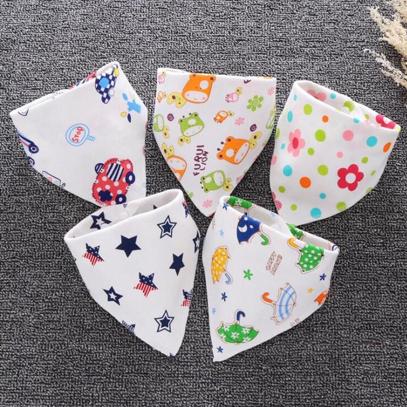 цена на AmyaBaby Cotton Triangle Baby Bibs Bandana Bib for Infant Saliva Scarf Cartoon Burp Cloths Newborn Babador Baby Feeding Towel
