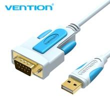 Vention USB à DB9 RS232 câble série adaptateur USB COM Port DB9 câble à broches RS232 pour Windows 7 8 10 XP Mac OS X imprimante LED POS 2m