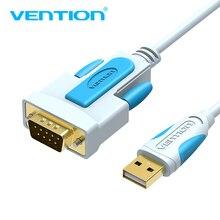 Vention USB DB9 RS232 seri kablo adaptörü USB COM portu DB9 Pin kablo RS232 Windows 7 8 10 için XP Mac OS X yazıcı LED POS 2m