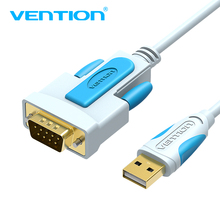 цена на Vention USB to DB9 RS232 Serial Cable Adapter USB COM Port DB9 Pin Cable RS232 for Windows 7 8 10 XP Mac OS X Printer LED POS 2m