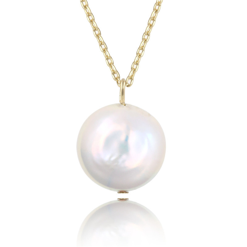 2019 Women 39 s Pearl Pendant Necklace Simple Adjustable Female Necklace Charm Choker Natural Freshwater Baroque Pearl Necklace in Pendant Necklaces from Jewelry amp Accessories