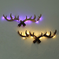 retro personality wall night light hook hook antlers Home Furnishing resin decoration wall mural shop lamps Z14440