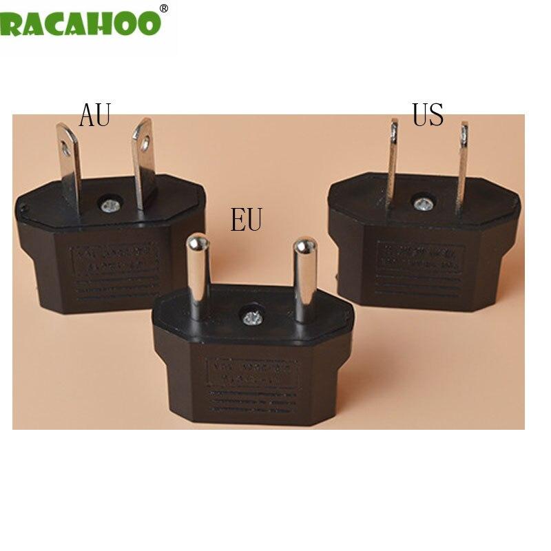 RACAHOO Universal US EU AU Plug USA Euro Europe World Travel AC Power Charger Outlet Adapter Converter 10pcs/lot free shiping