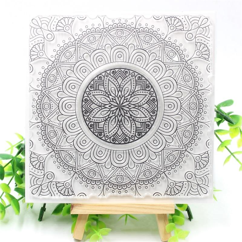 KSCRAFT Flourish Flower Transparent Clear Silicone Stamps for DIY Scrapbooking/Card Making/Kids Crafts Fun Decoration Supplies