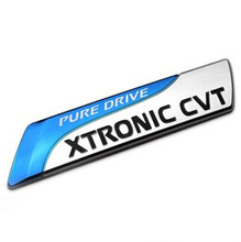 BBQ@FUKA 1pcs PURE DRIVE XTRONIC CVT 3D Car emblem Badge for Altima auto car sticker decals(China)